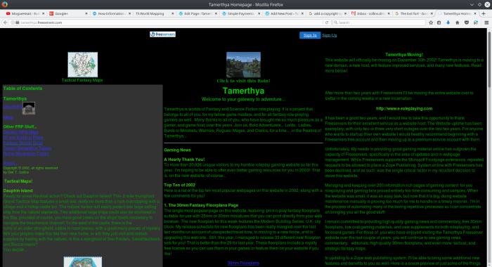 original Freeservers.tamerthya.com homepage
