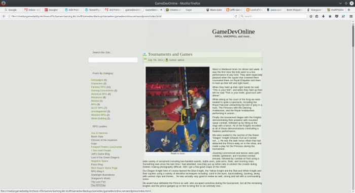 gamedevonline.net screen shot, 2011.