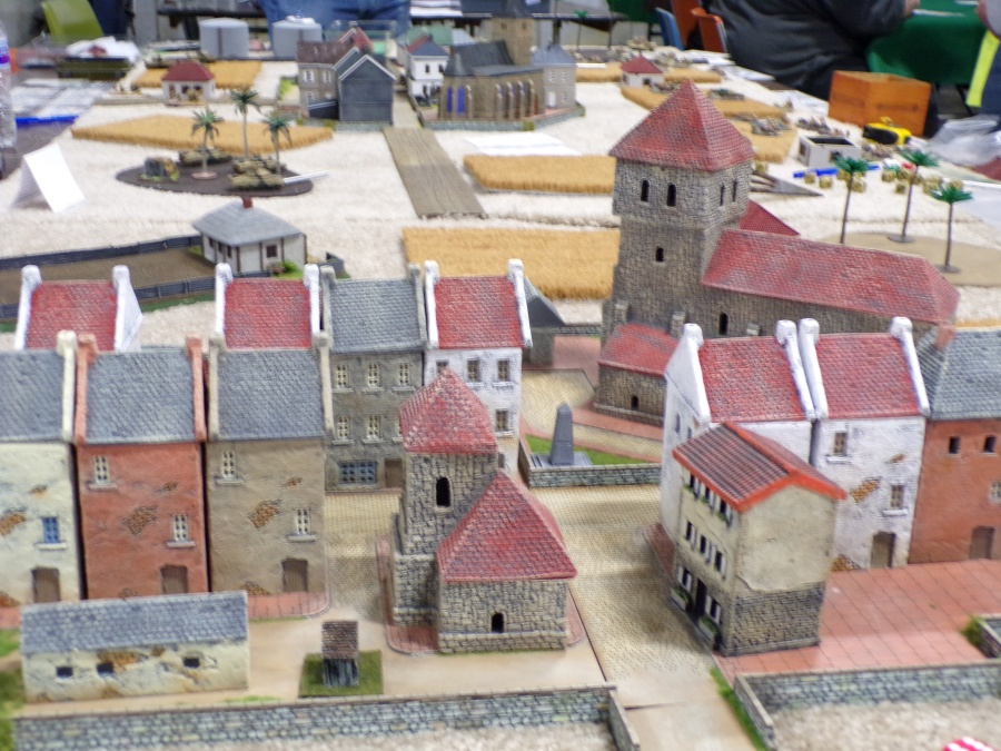 flames of war miniatures games, the village.