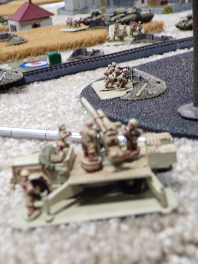 flames of war miniatures games, 88mm AT guns