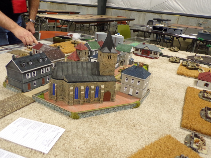 flames of war miniatures games, the village church.