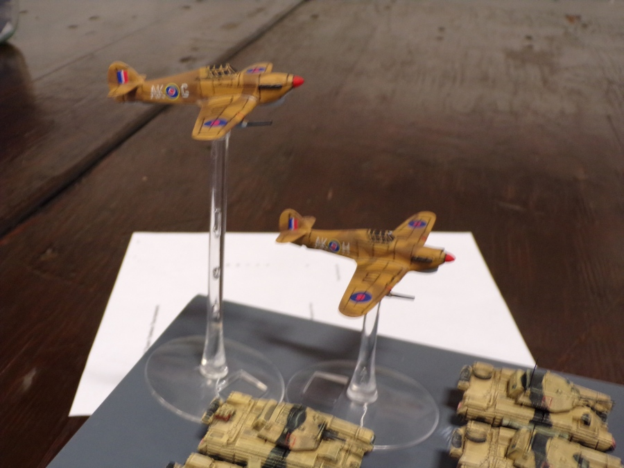 flames of war miniatures games, british typhoon aircraft.