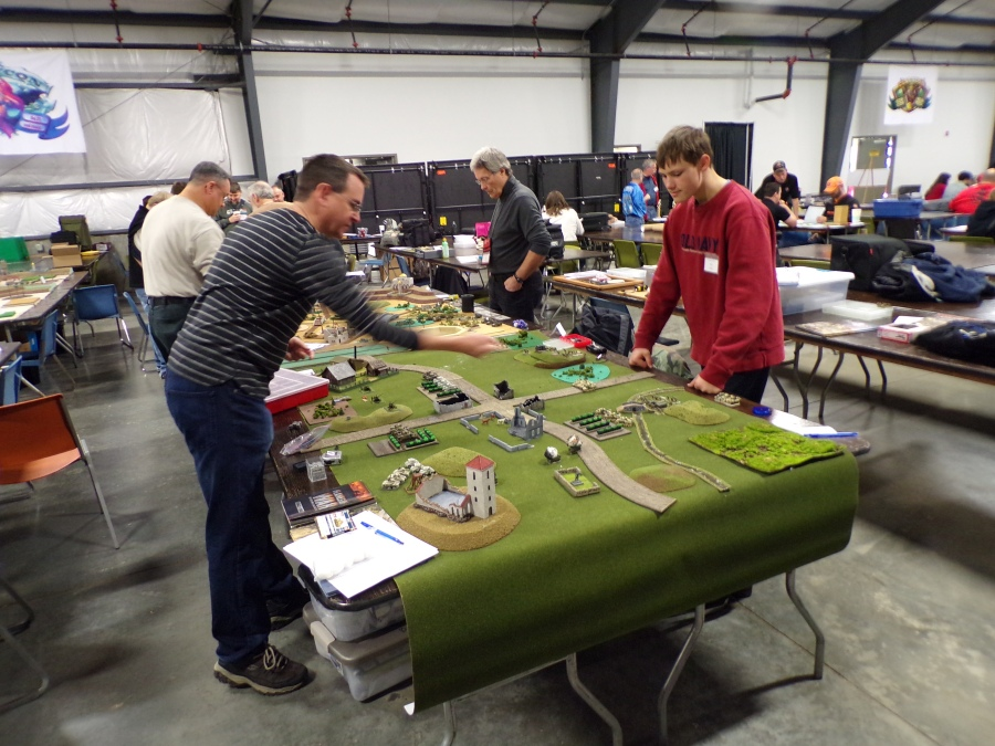 Flame of War Tournament Action