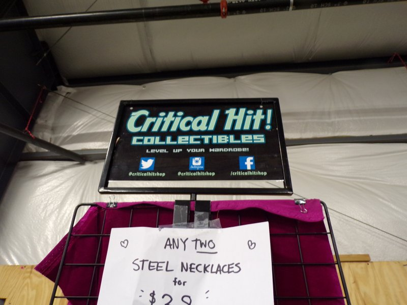 Critical Hit Collectibles Booth Sign