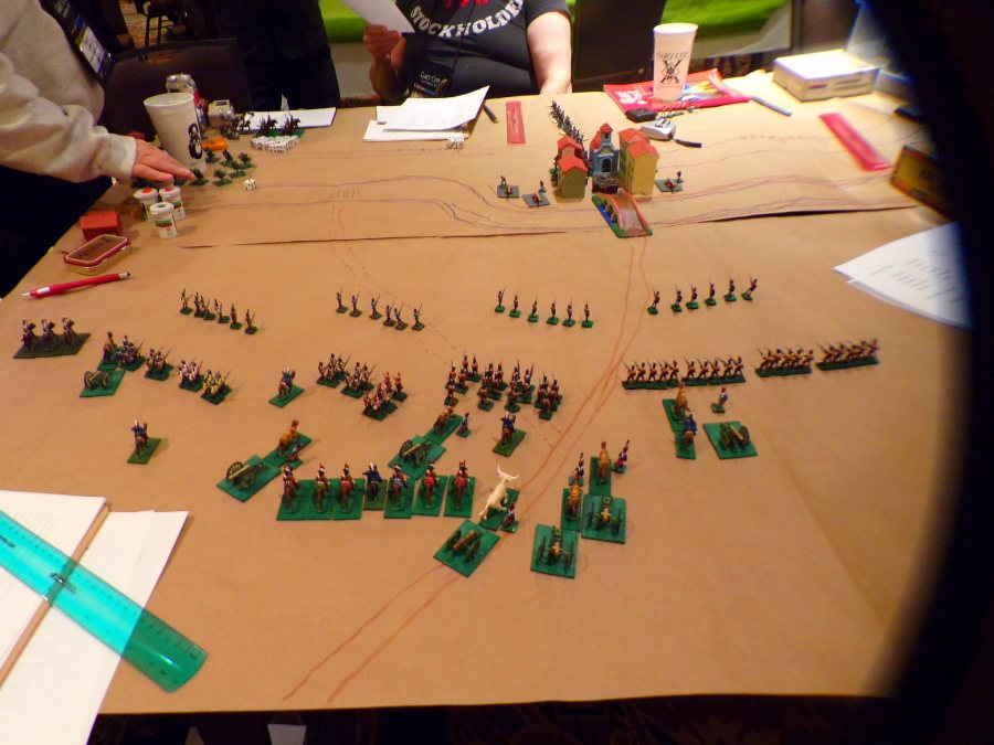 Turn Two, The French are advancing!