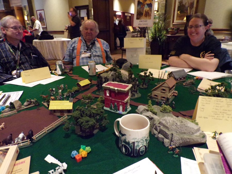 Original Dungeoins and Dragons Wilderlands Campaign game @ GaryCon X featuring Peter, Jack and Cindy playing an Elf, Hobbit, and Thief respectively.