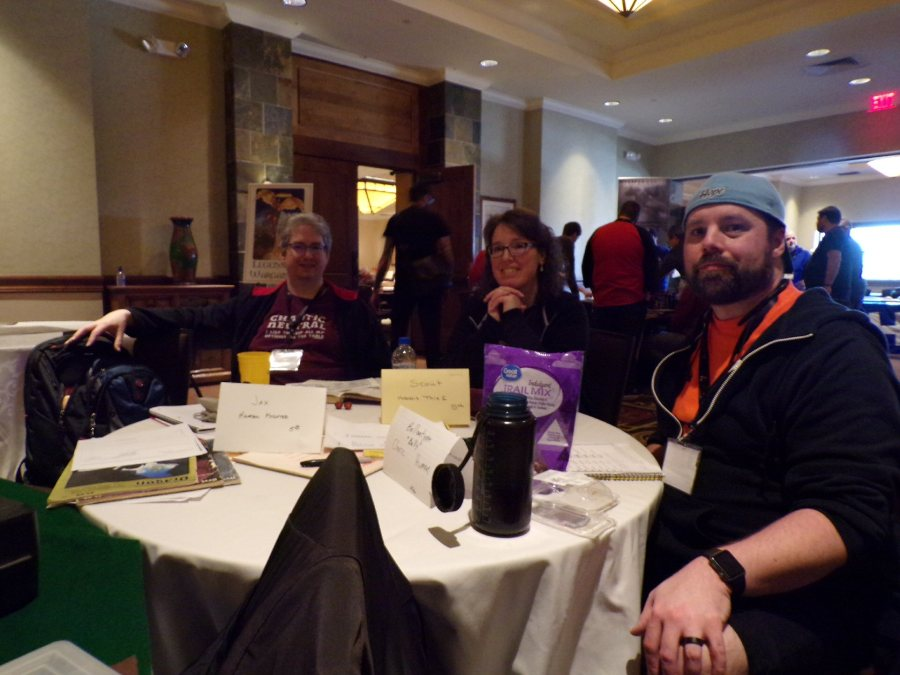 Steve, Tammie, and Mike Playing a Fighter, Thief, & Cleric for the Original Dungeons and Dragons Wilderlands Pickup game @ GaryCon X,