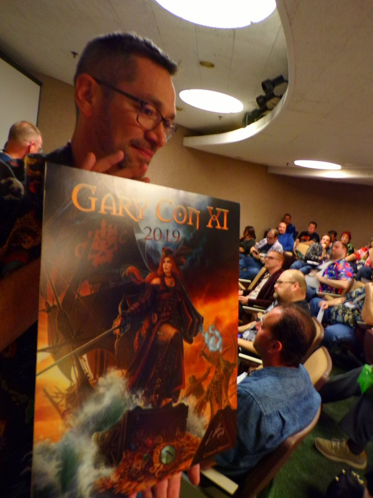 GaryCon XI Art Reveal with Luke Gygax & Charles Urbach at the Charity Games Auction.