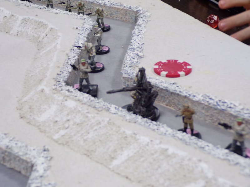 In the trenches. Star Wars Battle for Hoth.