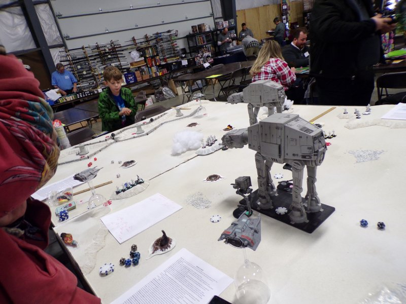 AT-ATs Approaching! Star Wars: Battle for Hoth Tabletop Miniatures Game.
