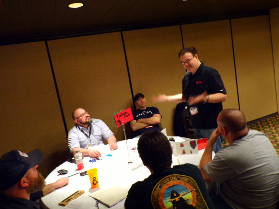 Mike Mearls running a game @ GaryCon X.