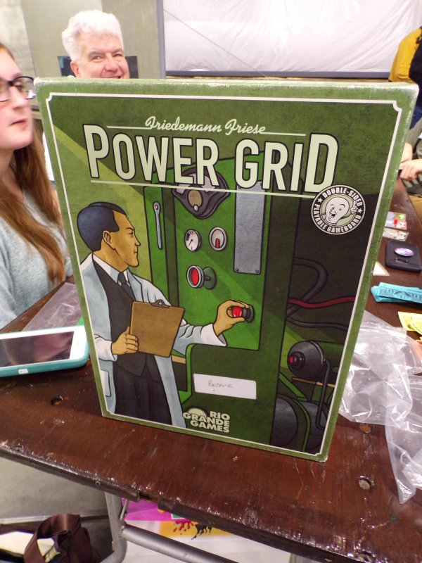 Power Grid Board Game Box Cover.