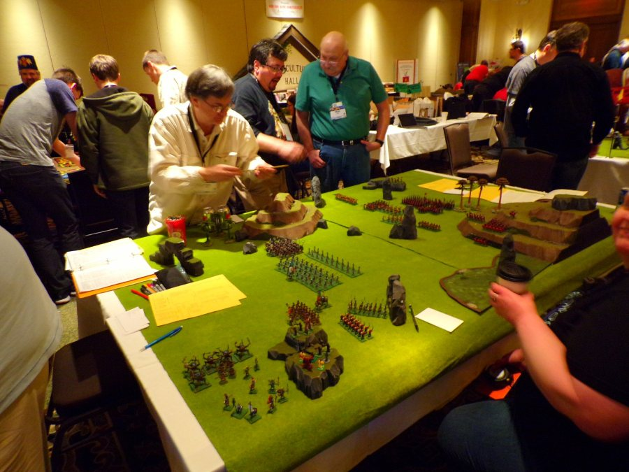 Legions of the Petal Throne battle with the Legends of Wargaming hosted by Victor Raymond @ GaryCon X