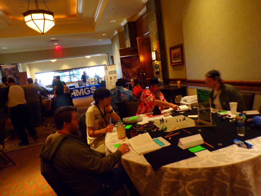 Traveller RPG, second pickup game of the day at GaryCon X on Saturday, underway.