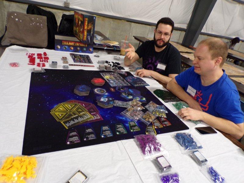 Twilight Imperium Boardgame Setup