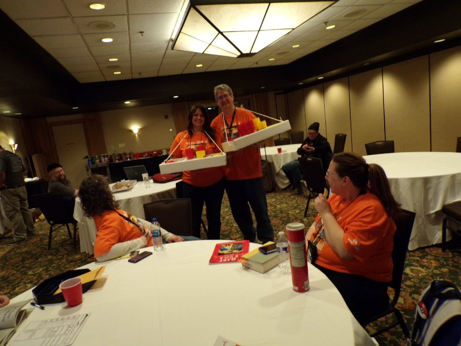 GaryCon Volunteers help the games run smooth with snacks and refreshments for the GM's of registered gaming events.