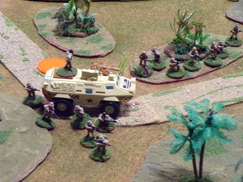 Commando V-150 armored car, and rebels. Wars of Insurgency