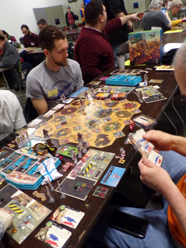 Wasteland Express, a post-apocalyptic Board Game.