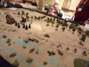 Legends of Wargaming Table Setup for Mike Reese's Sturmgeshutz & Sorcery Game