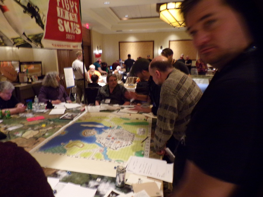 Morgan Griffiths Fight in the Skies game based on Dave Arnesons pre-D&D aerial combat rules