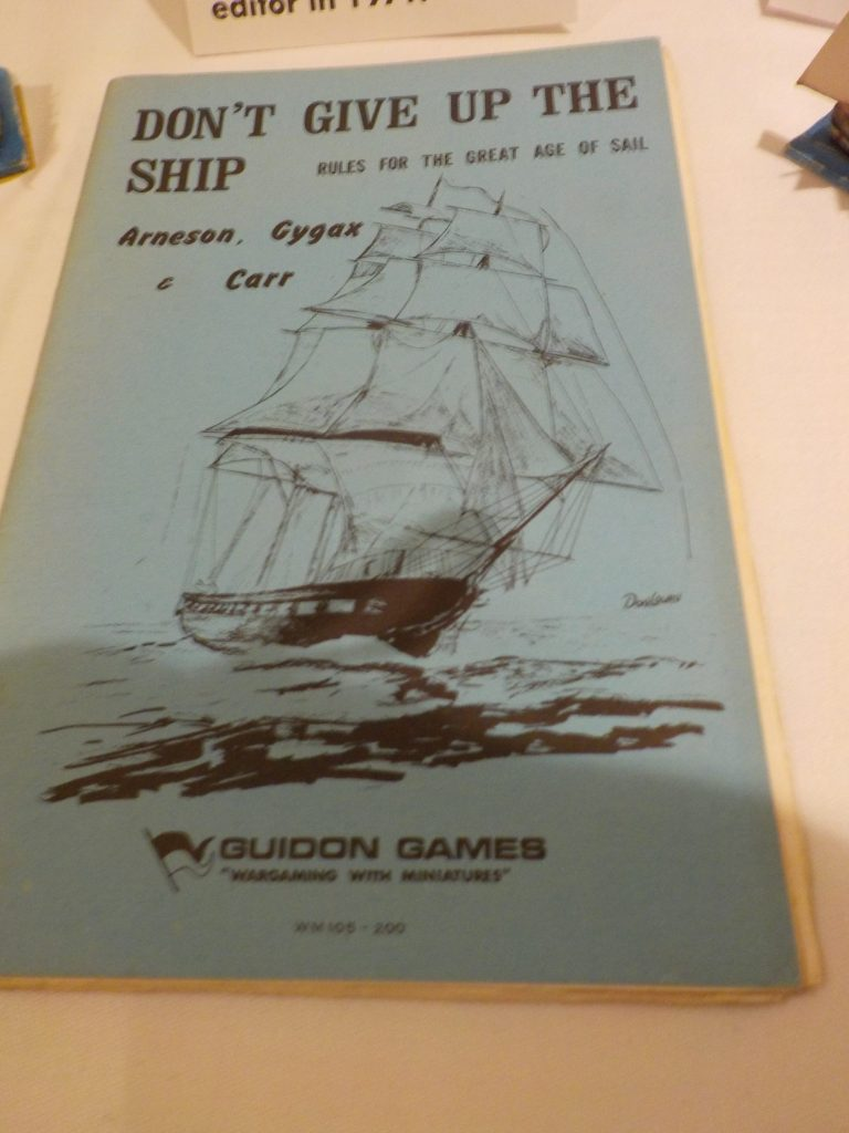 """""""Don't Give up the Ship"""" Dave Arneson's and Gary Gygax's Naval Wargame from 1971"""