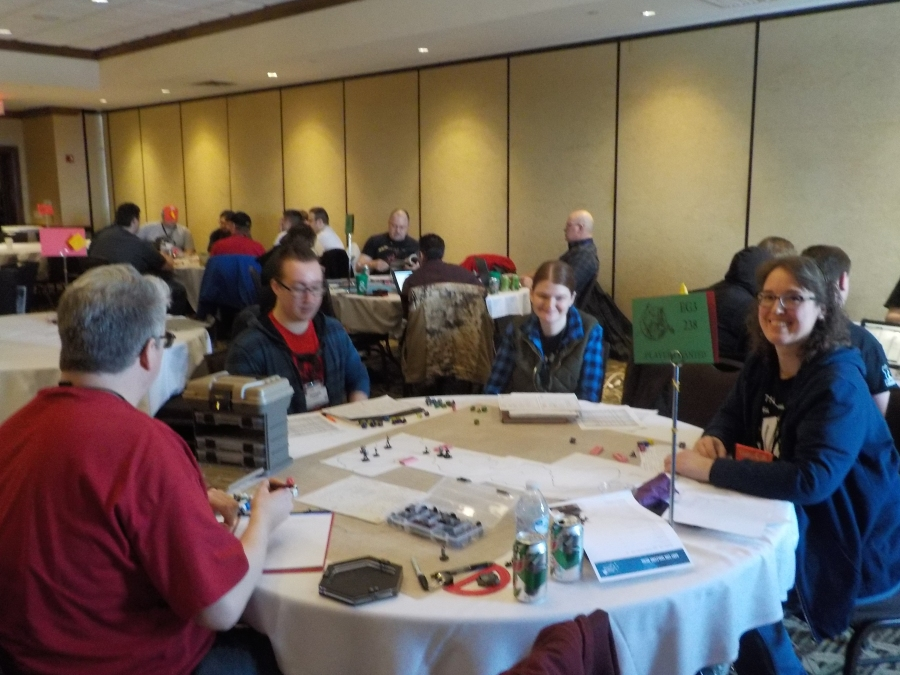 Paul & Tammie running a playtest of their new Fantasy RPG upstairs on Saturday!