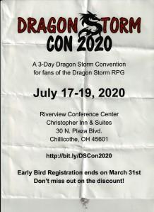 DragonStorm Convention Flyer